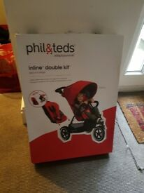 Phil&Teds Inline Double Kit Brand New in Box