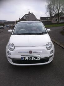 "*SOLD 2010 Fiat 500 1.3 Multijet diesel, Lounge spec., red leather, 16"" Fiat alloys, SOLD*"