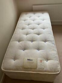 Single Divan Bed- Relyon -Excellent Condition