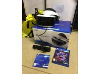 Unwanted Xmas present PS4 vr headset with box, camera and vr worlds game and vr demo (8 games)