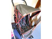 Hauck Sport Buggy - Black with red trim