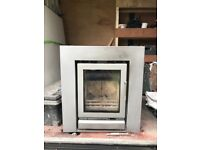Secound hand riva 40 wood burner with wide trim