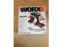 WORX Cordless Drill WX170.6 with metal box and 60pc kit