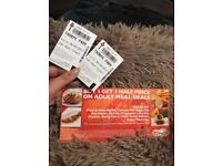 2 THORPE PARK TICKETS FOR THURSDAY 28 SEP