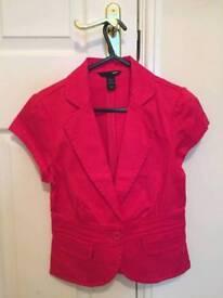 Pink jacket h&m size small