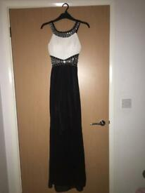 Black and White evening/prom dress. Labelled a Xtra small