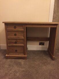 Rustic Oak Computer Desk/Hall Console