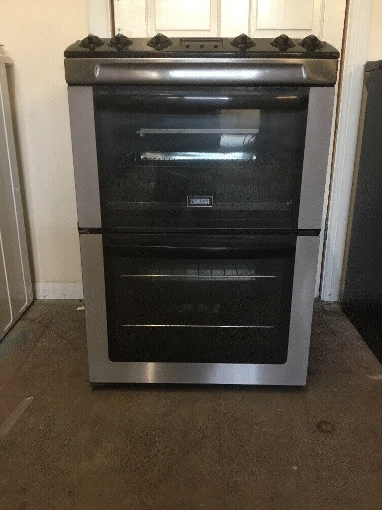 Zanussi gas cooker 60cm ZCG662GXC 60cm FSD double oven 3 months warranty free local delivery!!!!