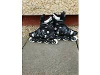 Black inline skates