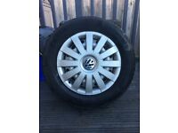 """VW Caddy Steel 15""""Wheels with Winter Tyres & Trims"""
