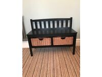 New storage bench seat with baskets black hallway shoe storage wooden contemporary