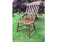 Antique / Vintage Rocking Chair - Antique Pine Rocking Chair - Good Sturdy Condition - Reduced