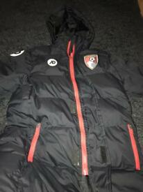 Afcb boys or girls bench coat worn twice large boys size