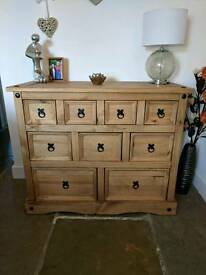 Corona chest of 9 drawers