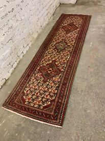 Runner rug, good quality with leather grippers on each side