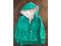 Mini Boden Fluffy Lined Hoodie 2-3 Years Old