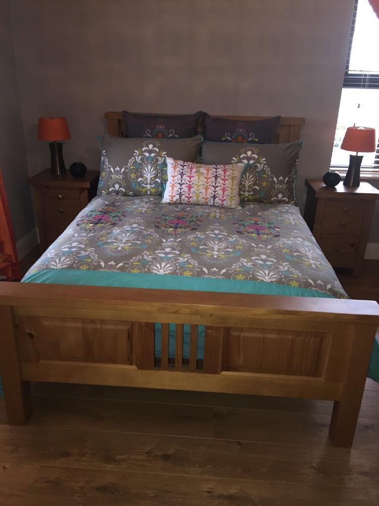 Full set of pine bedroom furniture