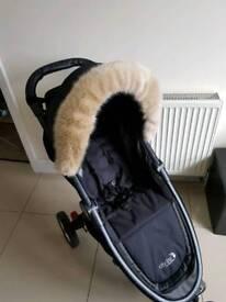 Swiss beige pushchairs fur trim