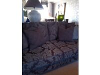 Large 3 seater Newell sofa and matching snug armchair.