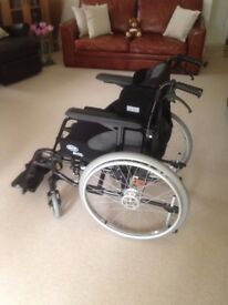 Nearly new Invacare Action3 NG Wheelchair with Power Pack