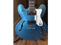 Epiphone Supernova Guitar, Original 1997 Peerless, Korea. Man City Blue. Hardcase, Noel Gallagher