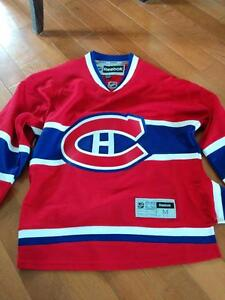 New Reebok Official Habs Canadians Jersey Medium embroidered West Island Greater Montréal image 1