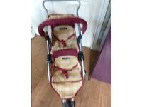 Mamas & Papas DOLLS Double Decker Twin Stroller Buggy Pram