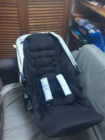 Mamas and papas black adjustable detachable pushchair Seat for Sola travel system