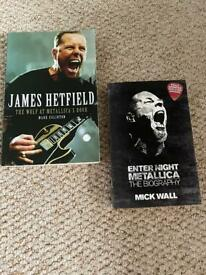 Metallica x2 books / autobiography - as new