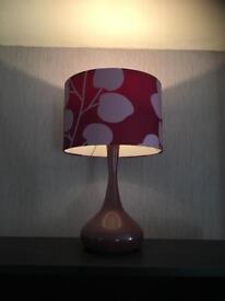 Matching Purple Lamps