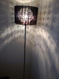 Lovely black & chrome floor lamp
