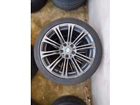 "Bmw m3 mv2 19"" black alloy wheel Can post"