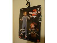CHUCKY DOLL COSTUME - SIZE M - FULL OUTFIT - NEW AND SEALED