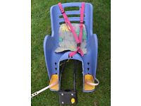 Child's seat on adult bicycle
