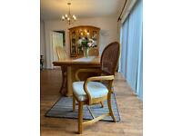 STUNNING Large Dining Table w/ 6 chairs & Display Cabinet set