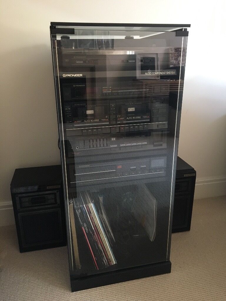 pioneer audio component system hifi cabinet in warwick. Black Bedroom Furniture Sets. Home Design Ideas
