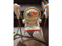 Fisher-Price 3-in-1 Swing, Rocker & Bouncer in Excellent Condition - £60