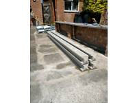 Fence posts, concrete fence post and a 1.5m x 1.83 fence panel, brand new