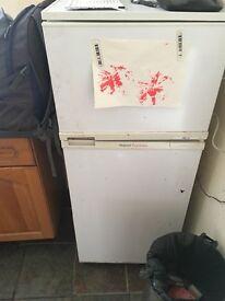 White fridge freezer.