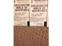 Chessington tickets (8 &12 May)