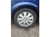 Vauxhall alloy wheels with legal tyes