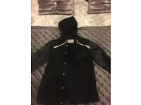 River island leather hooded jacket men's