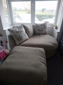 Chaise sofa with footstool, excellent condition