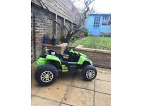 Electric kids car -Rocket Dirt Racer - 12v Ride On Electric Kids Ride on 2 Seater - Green