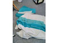 2 x turquoise duvet set with pillow cases