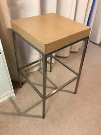 Brushed silver frame and solid wood seat top, £10!