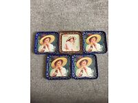 AUTHENTIC COLLECTIBLE COCA COLA COASTERS - FROM SPAIN