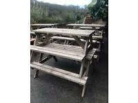 6 Seater Treated Swedish Picnic Benches