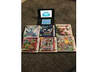 Nintendo 3ds XL Metallic black edition bundle with games & charger