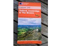 AS NEW Ordnance Survey OS Explorer 1:25000 1:25,000 Map 242 Telford, Ironbridge & The Wrekin